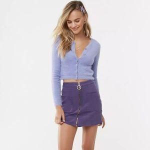 FOREVER 21 A-Line Corduroy Pencil Mini Skirt 💜  L